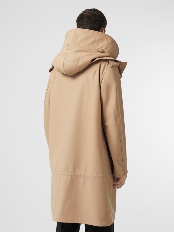Detachable Hood Rubberised Parka in Honey | Burberry - cell image 2