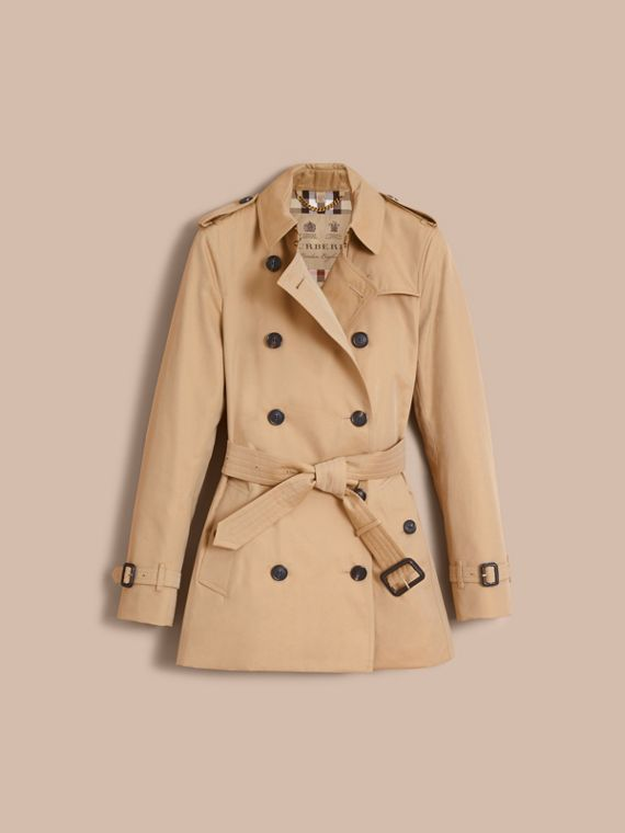 The Kensington – Short Heritage Trench Coat in Honey - Women | Burberry - cell image 3