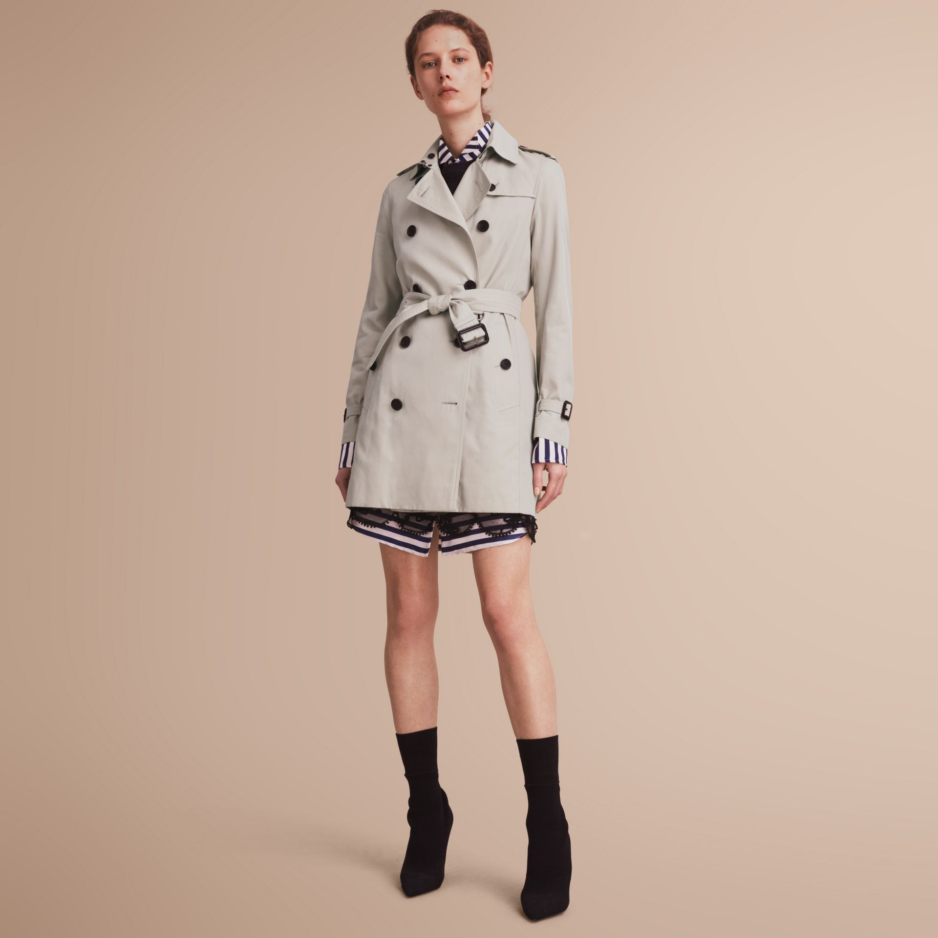 The Kensington – Mid-Length Heritage Trench Coat Stone - gallery image 1