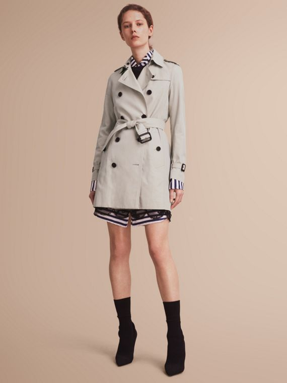 Trench coat Kensington - Trench coat Heritage de longitud media Piedra
