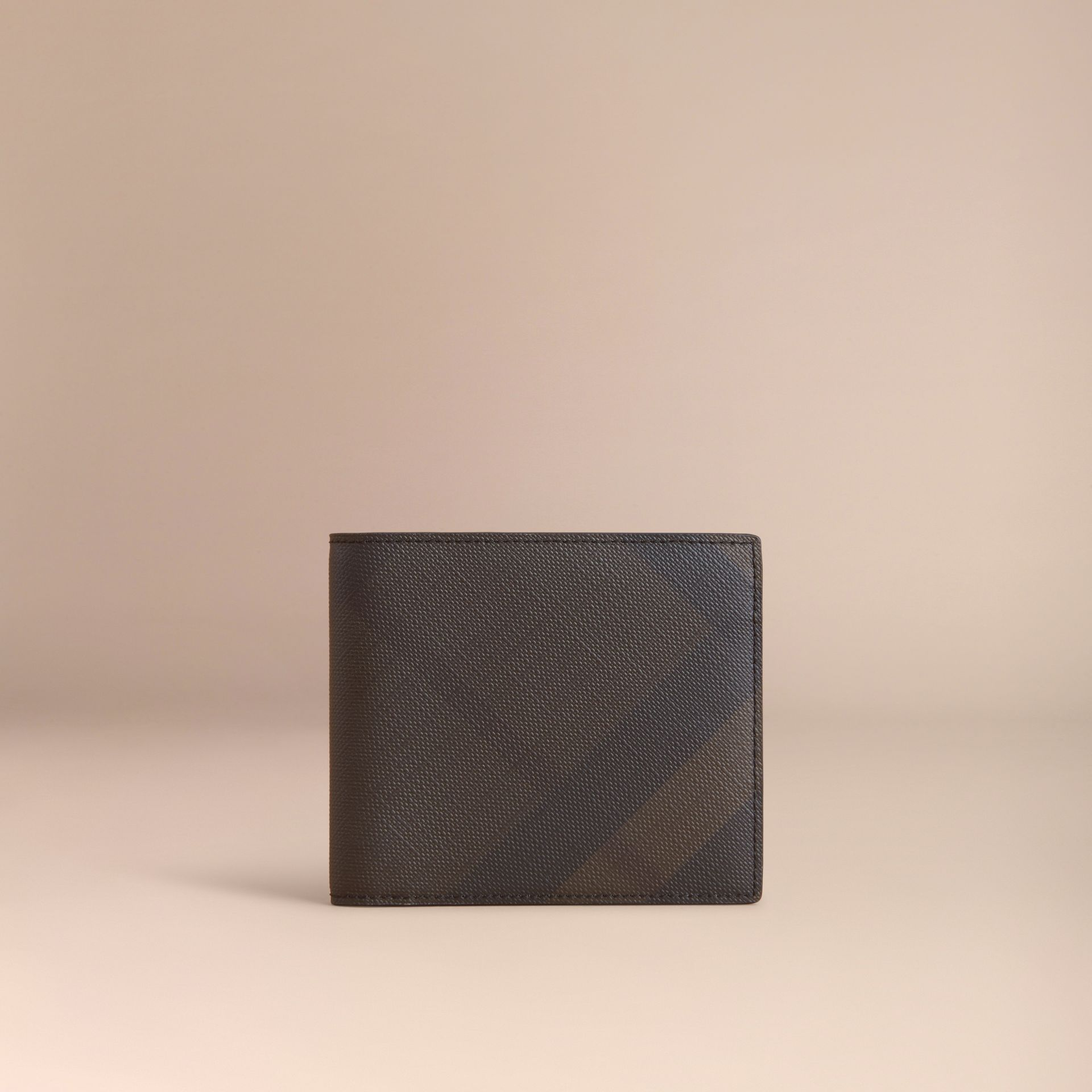 London Check Folding Wallet Chocolate/black - gallery image 5
