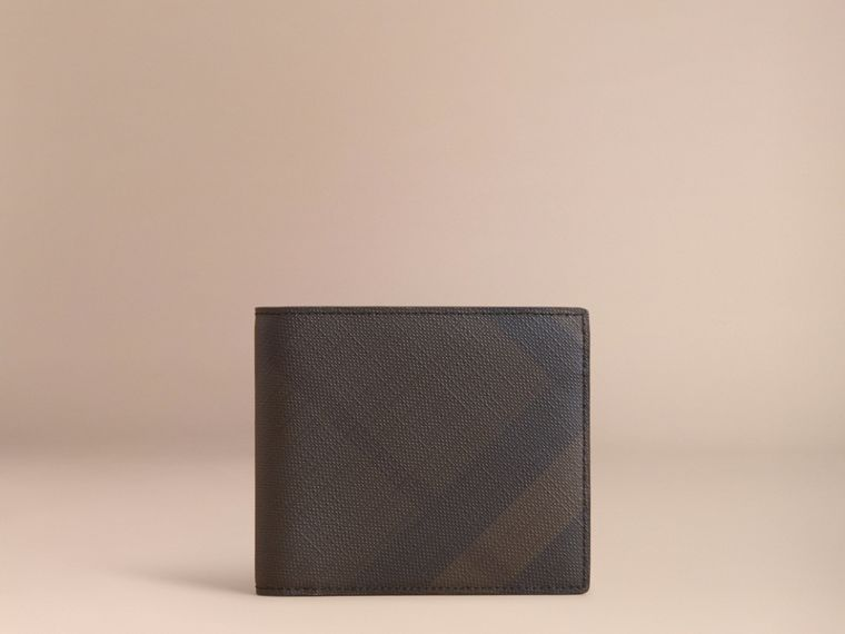 London Check Folding Wallet Chocolate/black - cell image 4