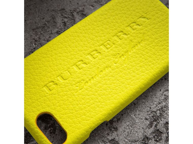 Neon Leather iPhone 7 Case in Bright Yellow - Women | Burberry - cell image 1