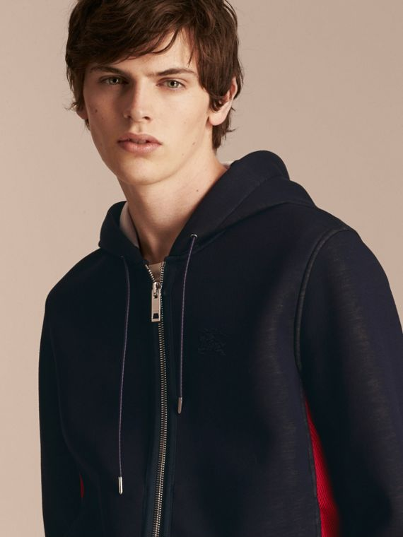 Two-tone Jersey Hooded Top