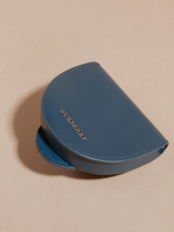 London Leather Coin Case in Mineral Blue - cell image 2