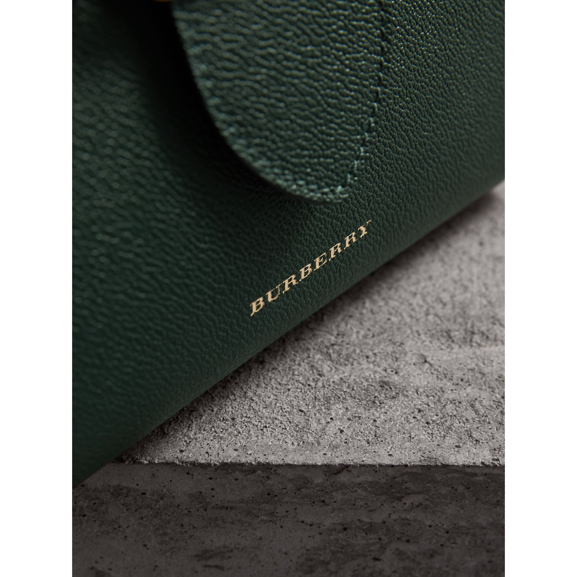 The Small Buckle Tote in Grainy Leather in Sea Green - Women | Burberry United Kingdom - gallery image 1
