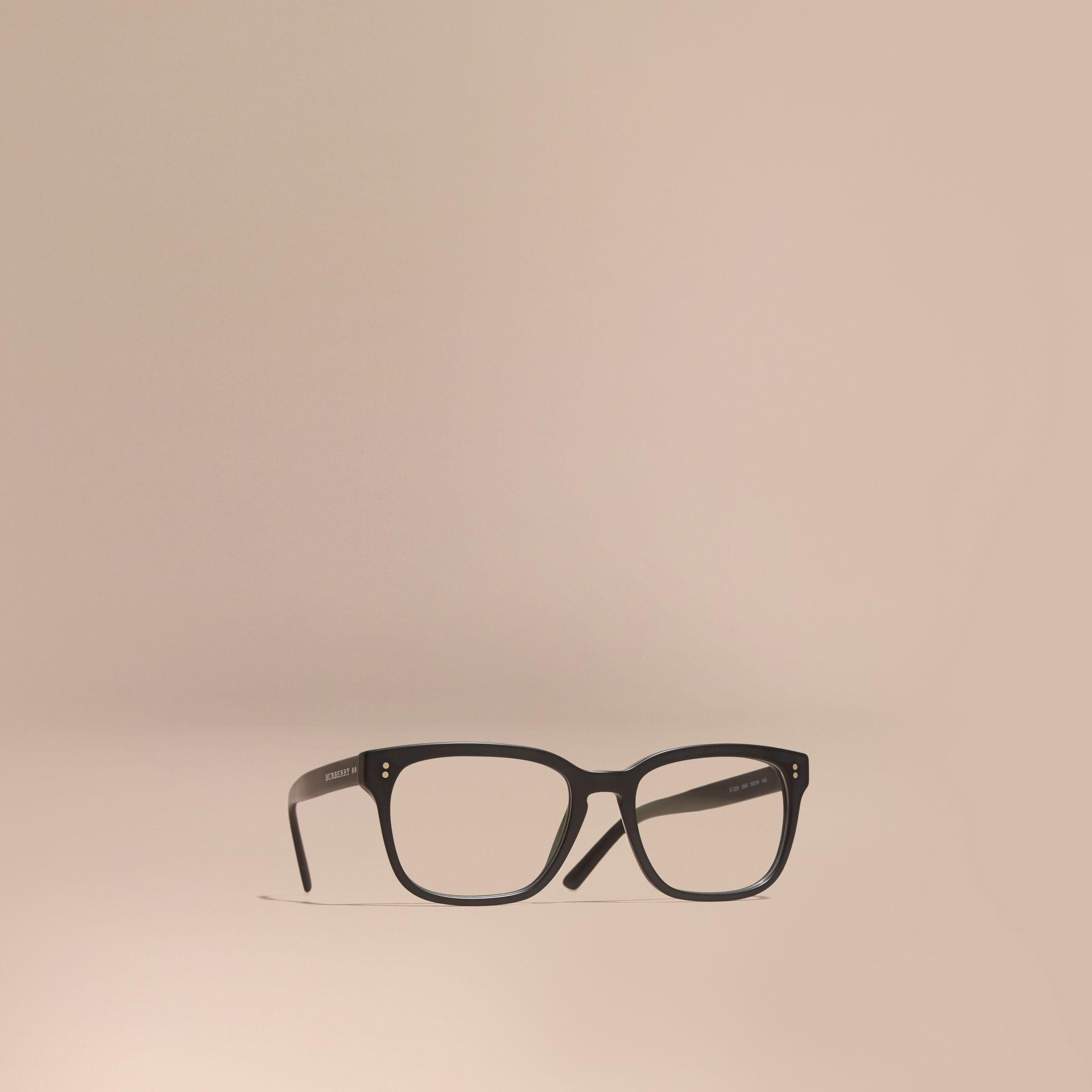 Square Optical Frames Black - gallery image 1