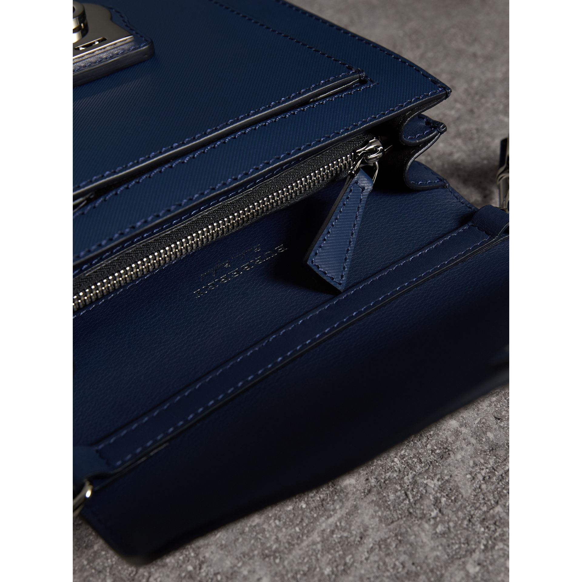 The Small DK88 Satchel in Ink Blue - Men | Burberry - gallery image 6