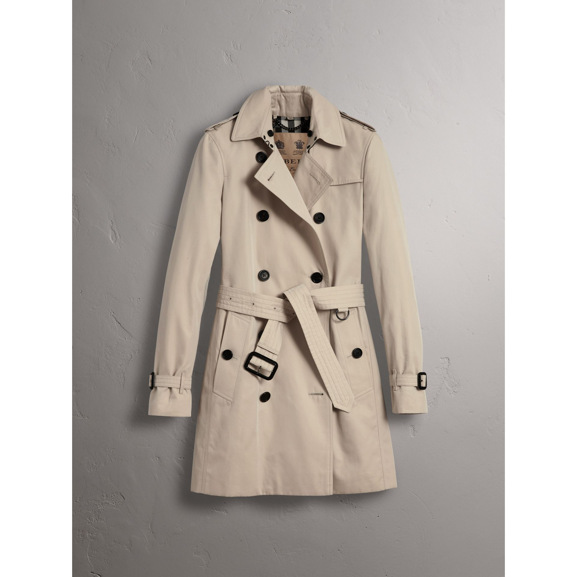 The Kensington - Trench coat medio (Pietra) - Donna | Burberry - immagine della galleria 3