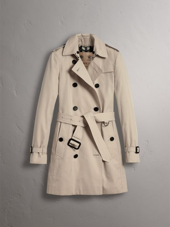 The Kensington – Mid-Length Heritage Trench Coat in Stone - Women | Burberry - cell image 3