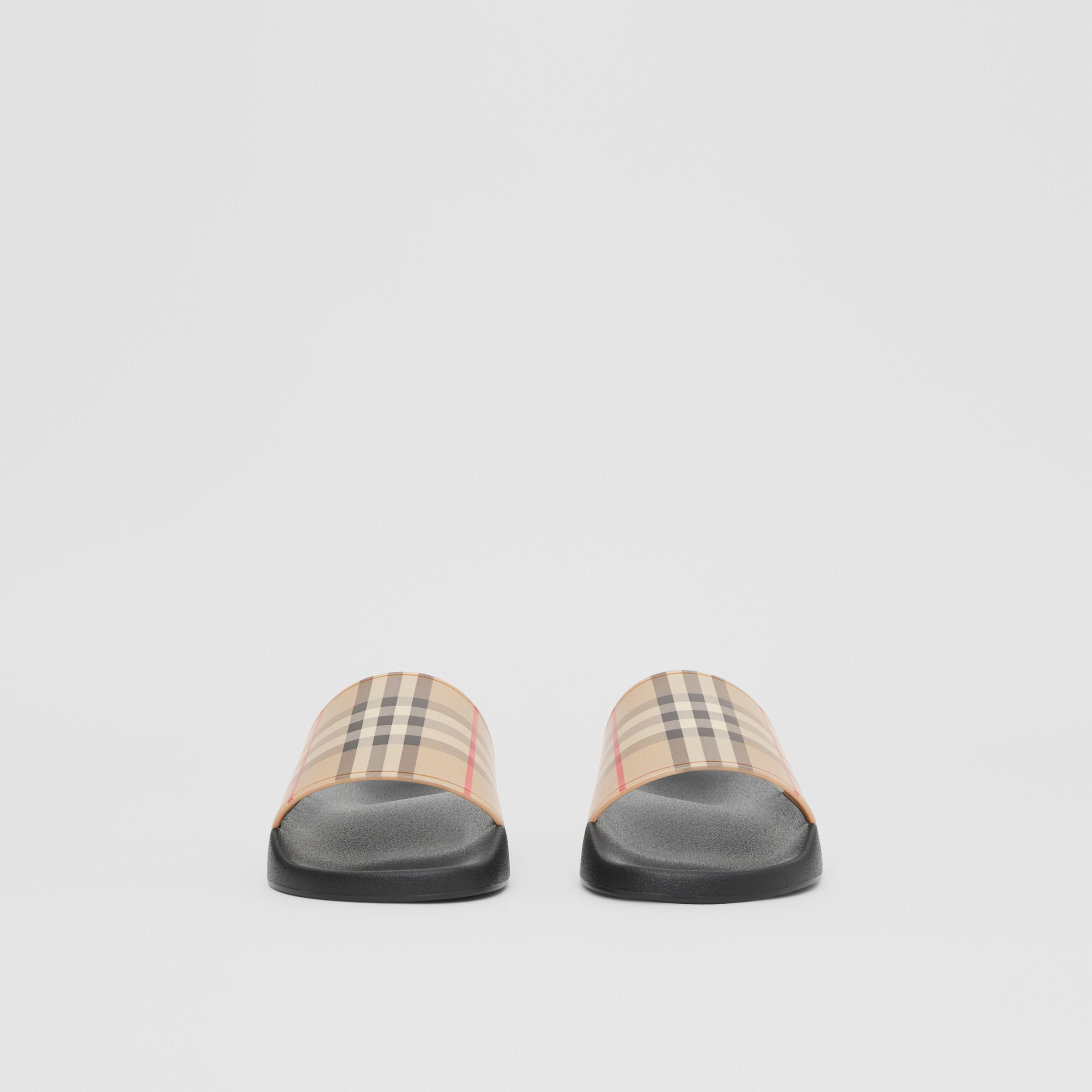 Vintage Check Slides in Archive Beige - Men | Burberry - 4