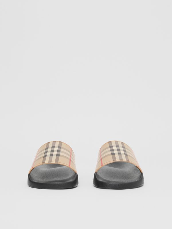 Vintage Check Slides in Archive Beige - Men | Burberry - cell image 2