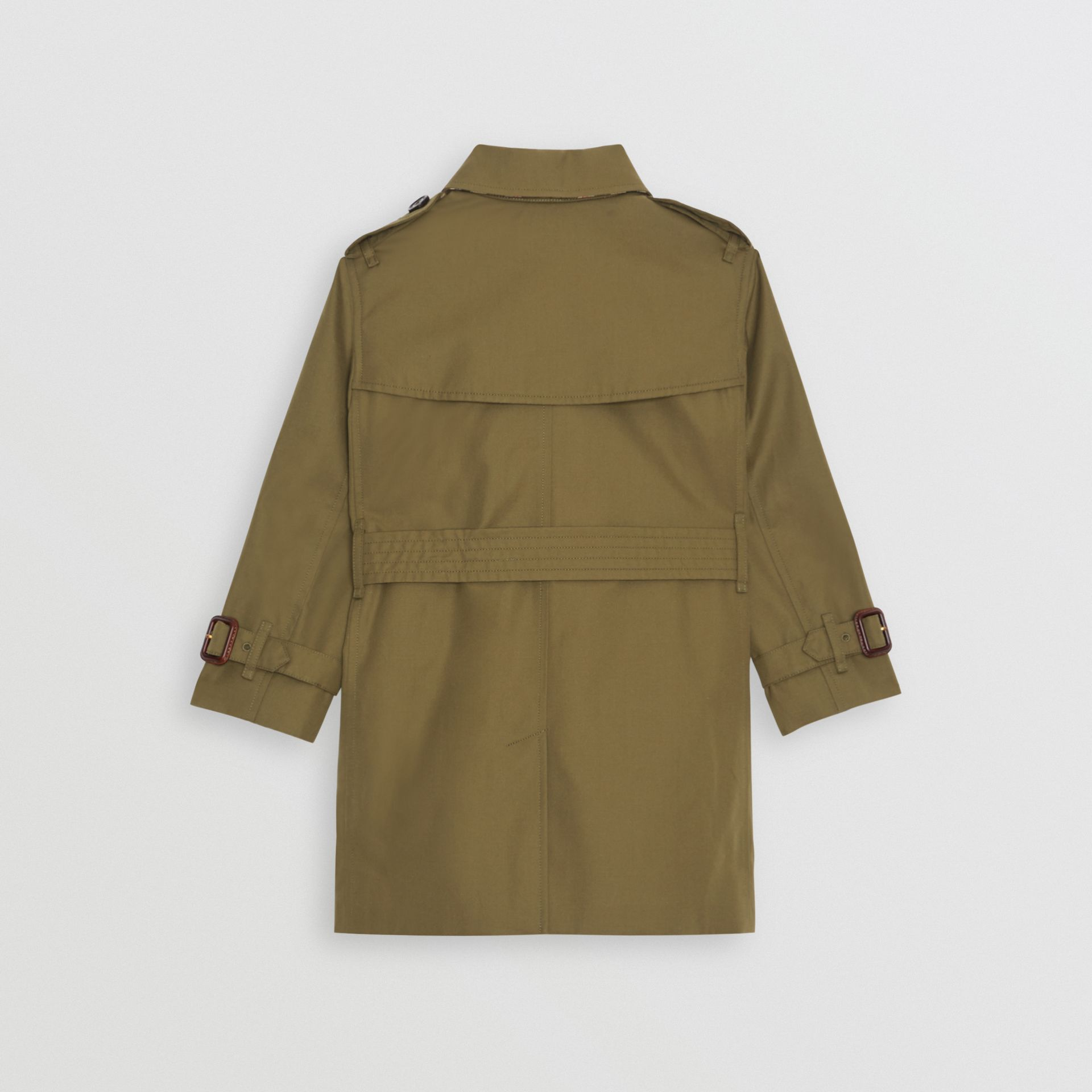 Cotton Gabardine Trench Coat in Military Olive | Burberry Hong Kong - gallery image 4