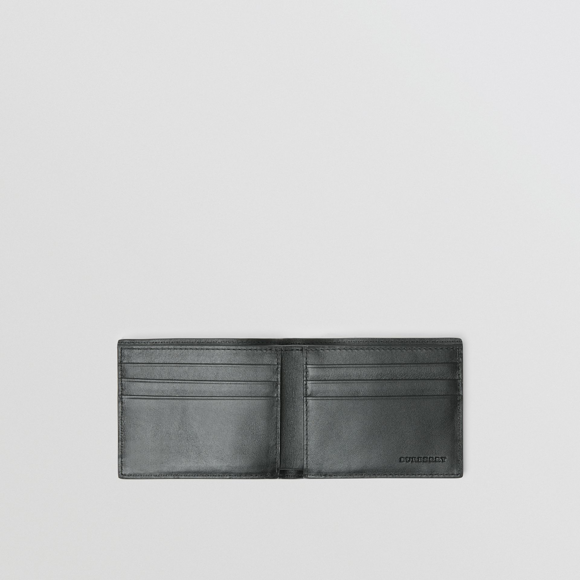 London Check Bifold Wallet in Charcoal/black - Men | Burberry United Kingdom - gallery image 3