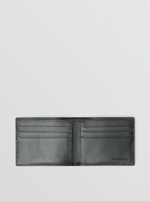 London Check Bifold Wallet in Charcoal/black - Men | Burberry Australia - cell image 3