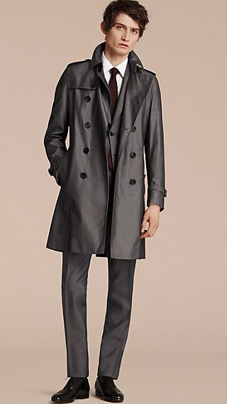 The Chelsea - Trench coat in gabardine di cotone