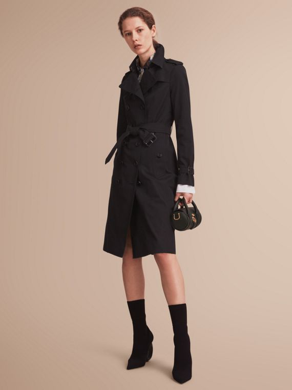 The Sandringham - Trench coat Heritage extra lungo Nero