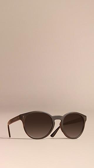 Folding Round Frame Sunglasses