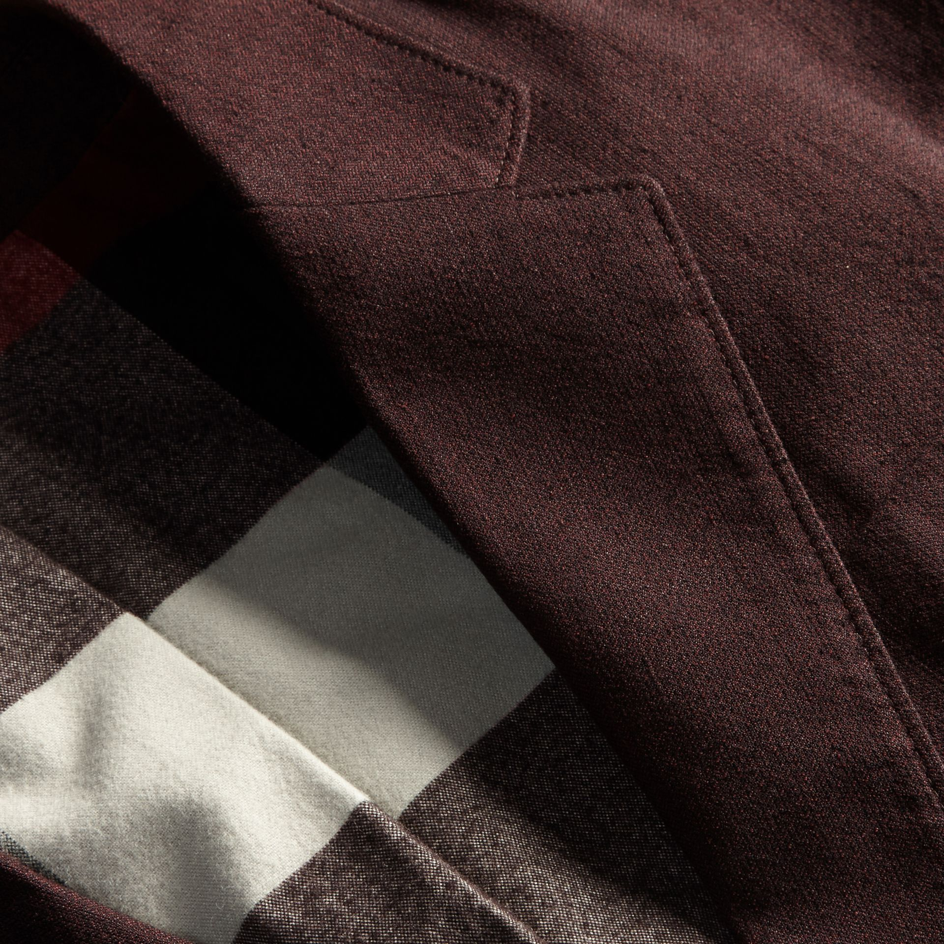 Deep claret Patch Pocket Cotton Wool Blend Tailored Jacket - gallery image 2