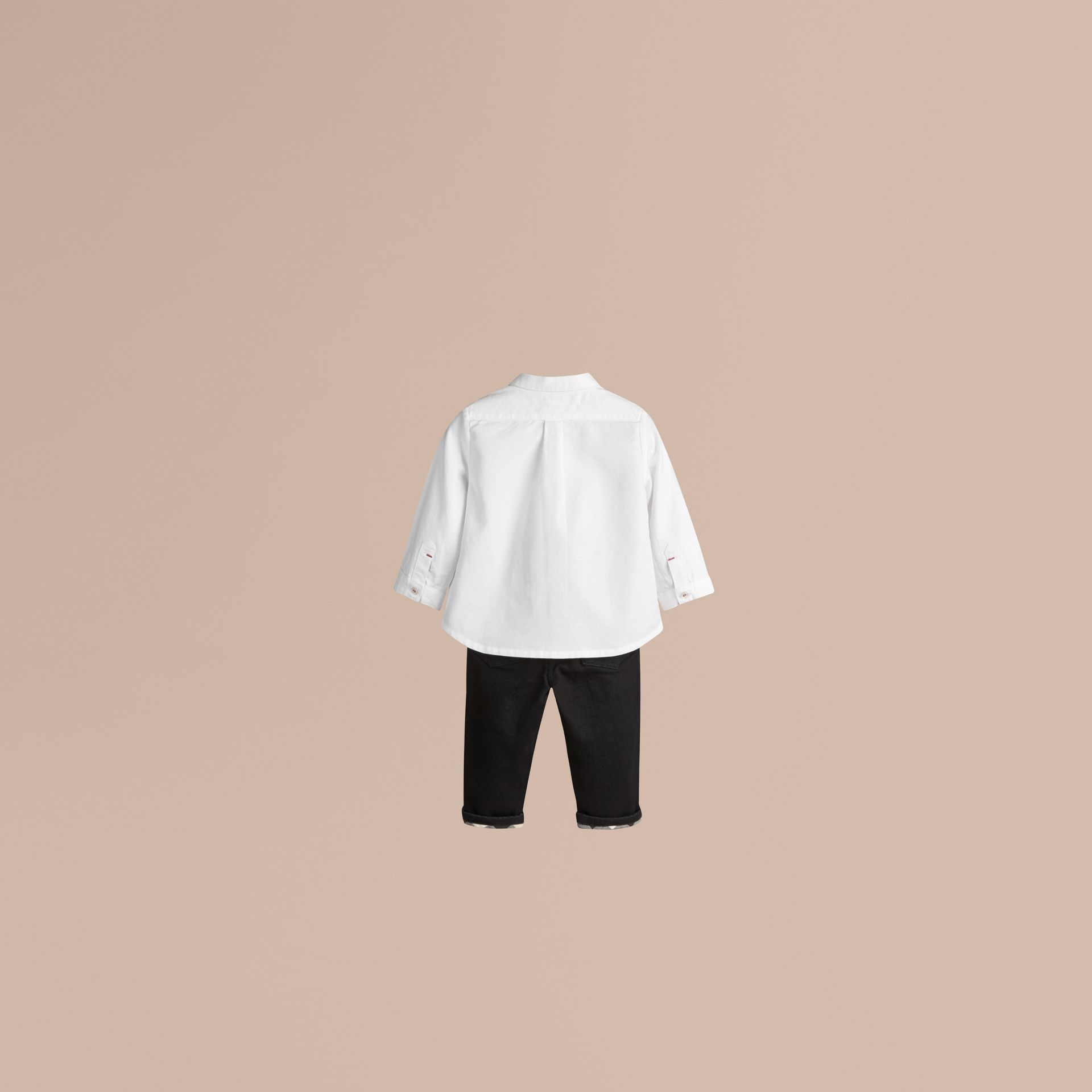 Chemise Oxford en coton (Blanc) - Garçon | Burberry - photo de la galerie 1