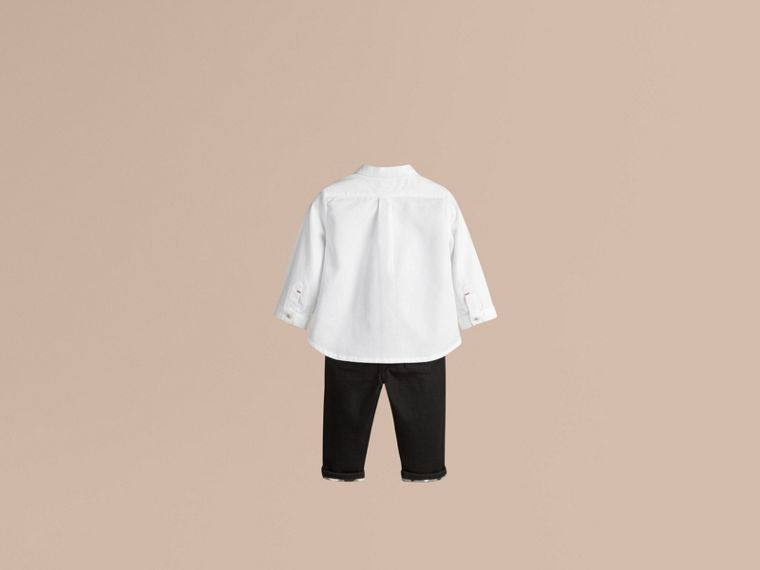 Cotton Oxford Shirt in White - Boy | Burberry Canada - cell image 1