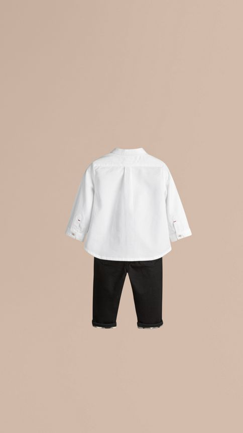 White Cotton Oxford Shirt - Image 2