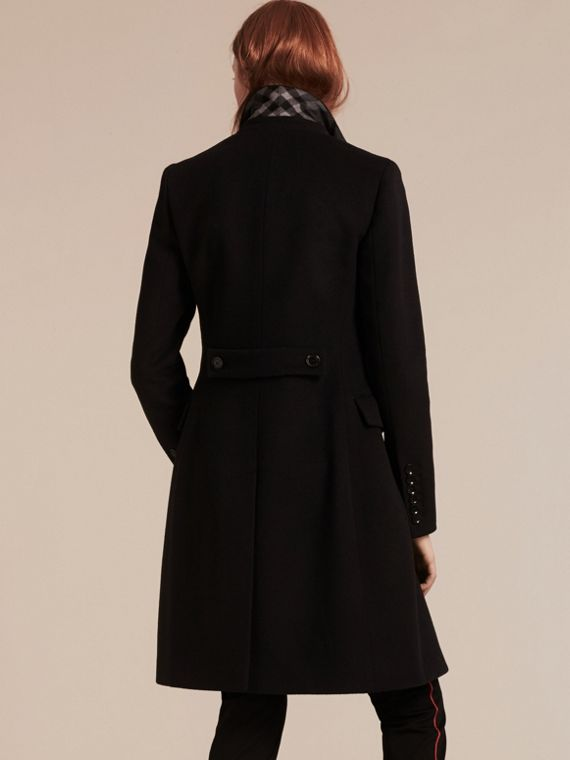 Wool Cashmere Tailored Coat in Black - cell image 2