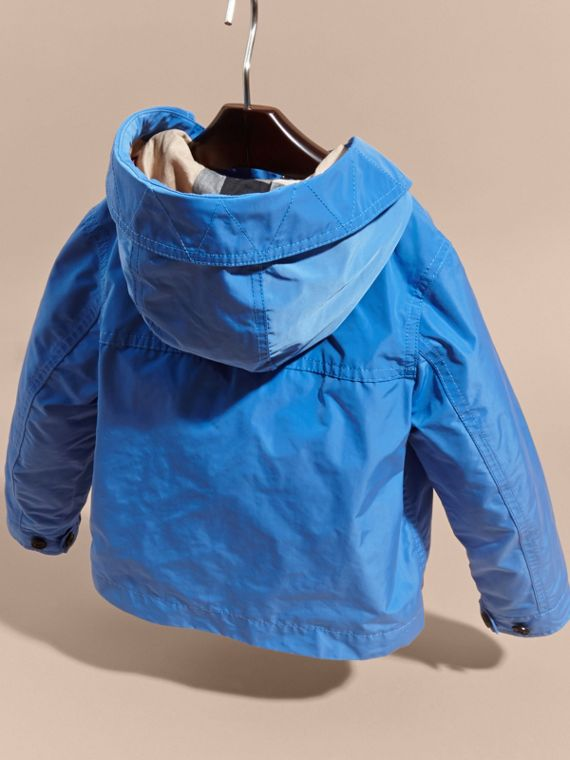 Hooded Packaway Technical Jacket Bright Hydrangea Blue - cell image 3