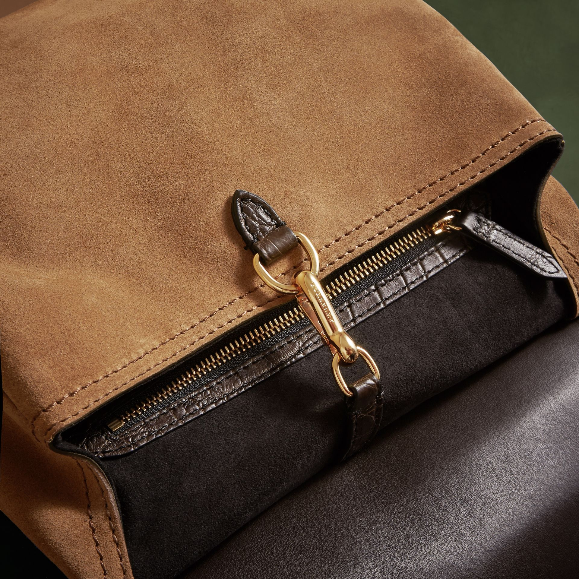 The Small Bridle Bag in Alligator and Suede - Men | Burberry - gallery image 5