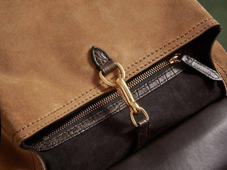 The Small Bridle Bag in Alligator and Suede - Men | Burberry - cell image 4