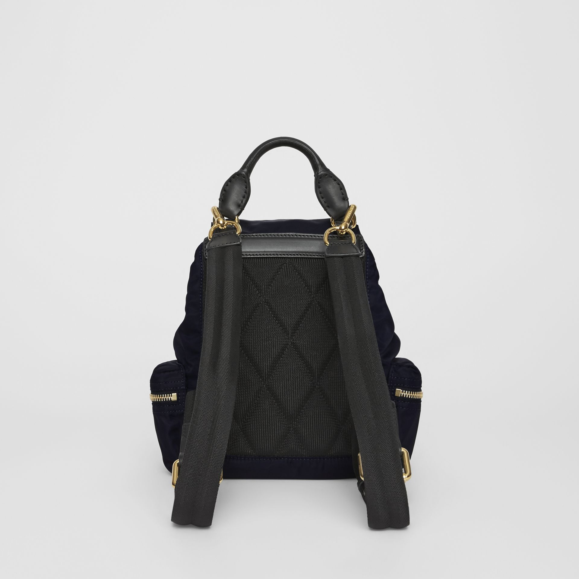The Small Crossbody Rucksack in Nylon in Ink Blue - Women | Burberry Hong Kong - gallery image 8