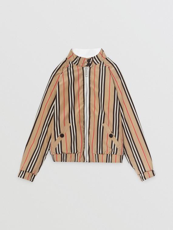 Wendbare Harrington-Jacke aus Baumwolle mit Streifen (Optic-weiss)