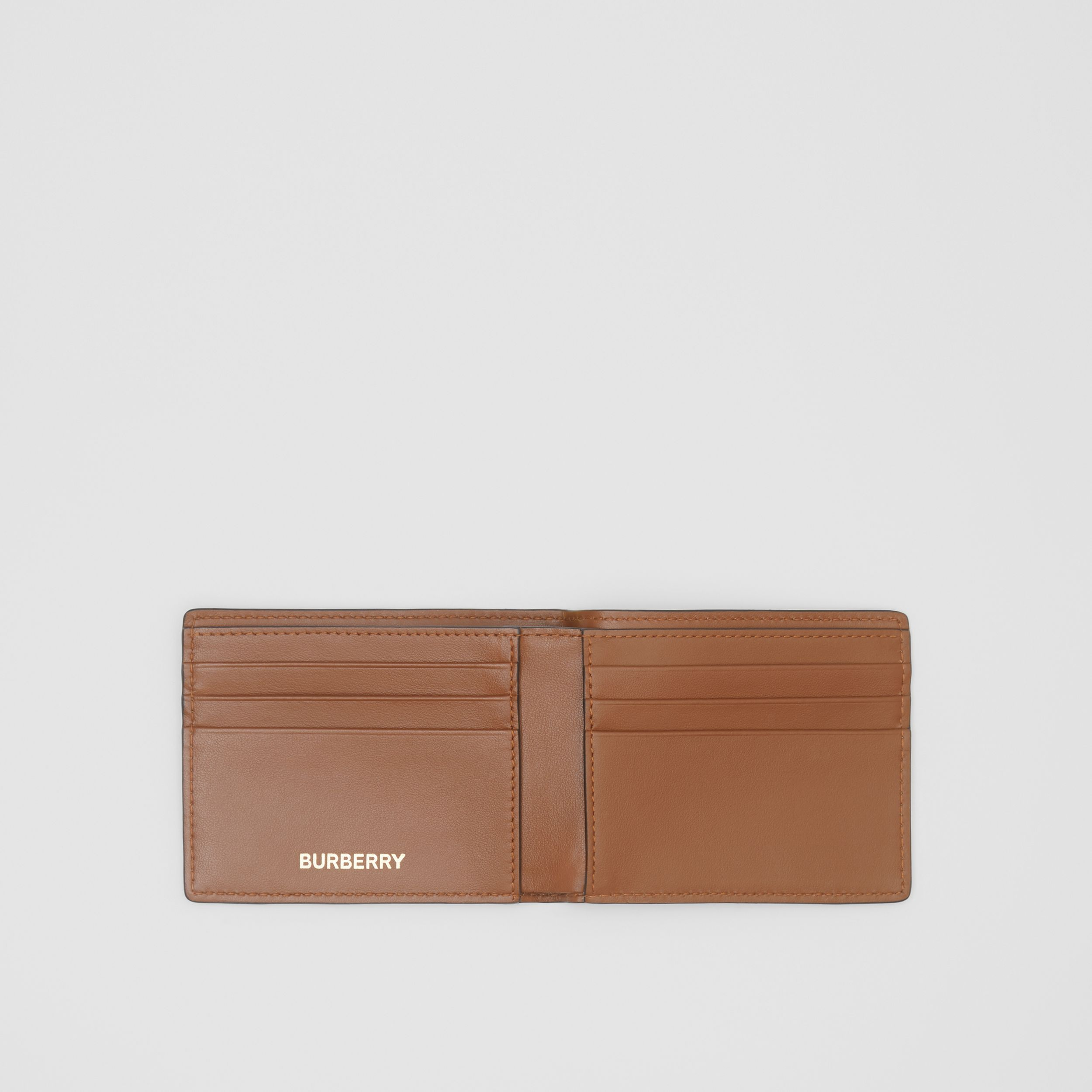 Monogram Print E-canvas Bifold Wallet in Bridle Brown - Men | Burberry - 3