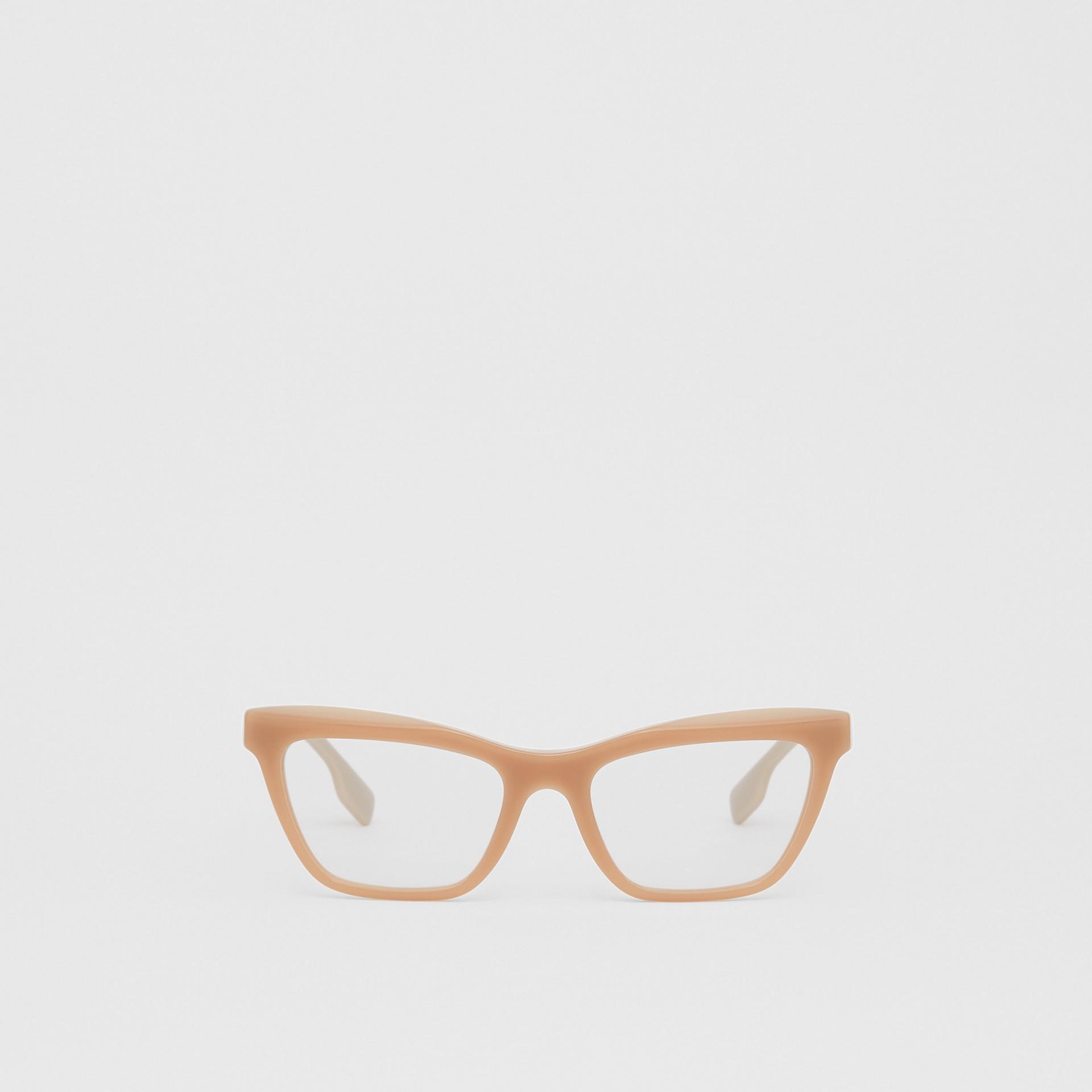 Rectangular Optical Frames in Peach - Women | Burberry Australia - gallery image 0