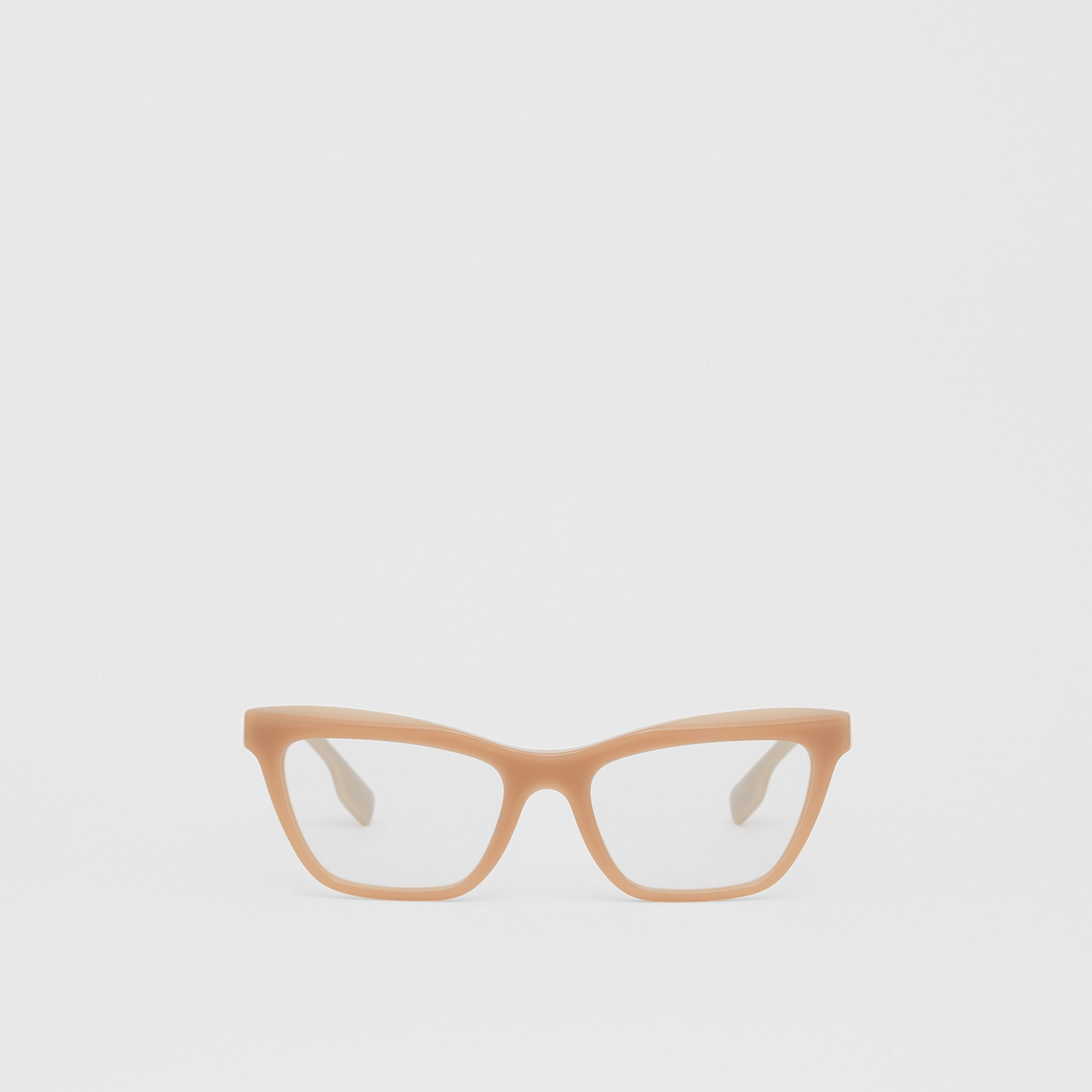 Rectangular Optical Frames in Peach - Women | Burberry - 1