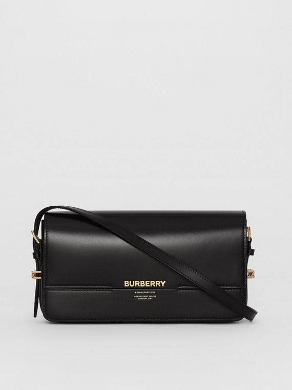 Mini Leather Grace Bag in Black