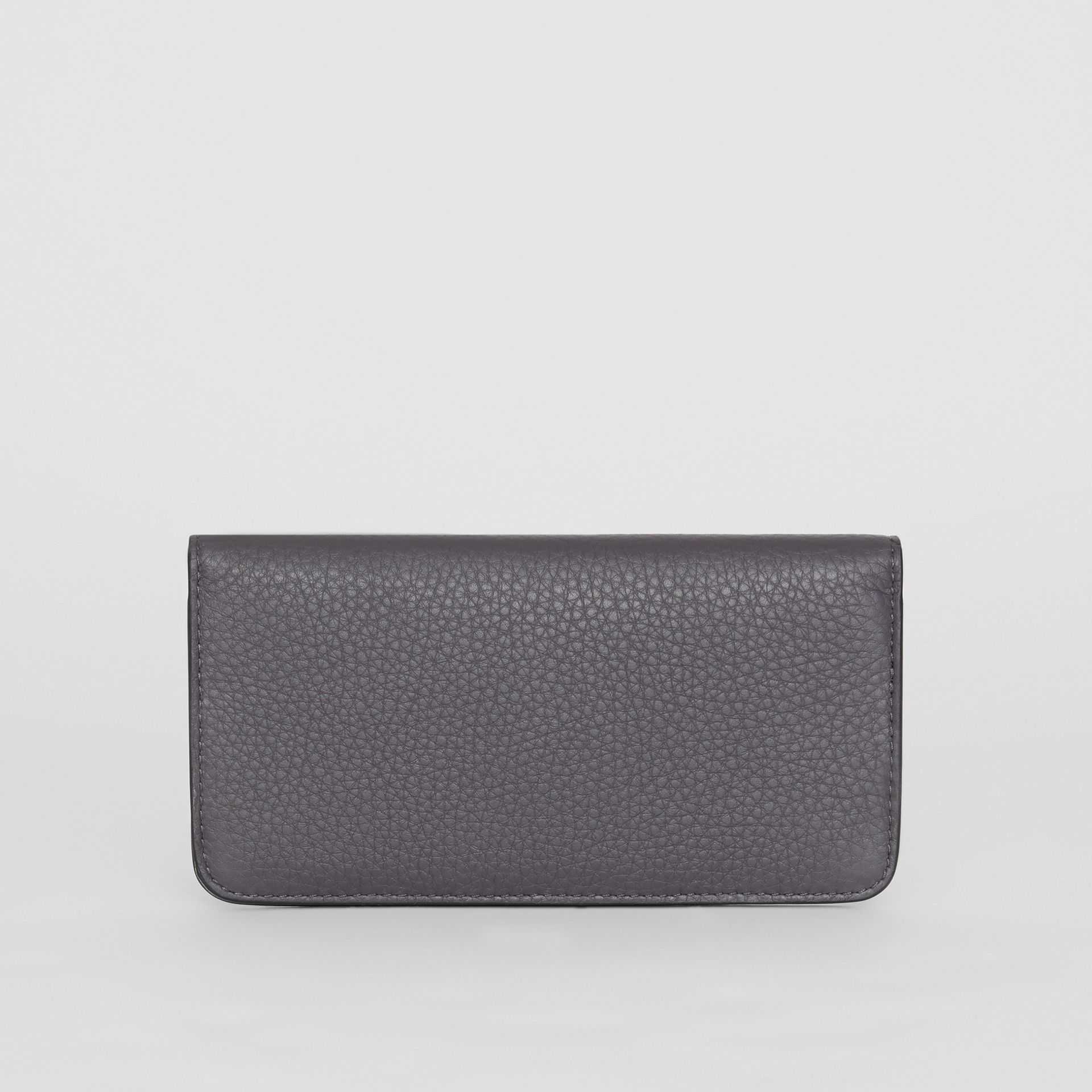 Leather Phone Wallet in Charcoal Grey - Women | Burberry - gallery image 5