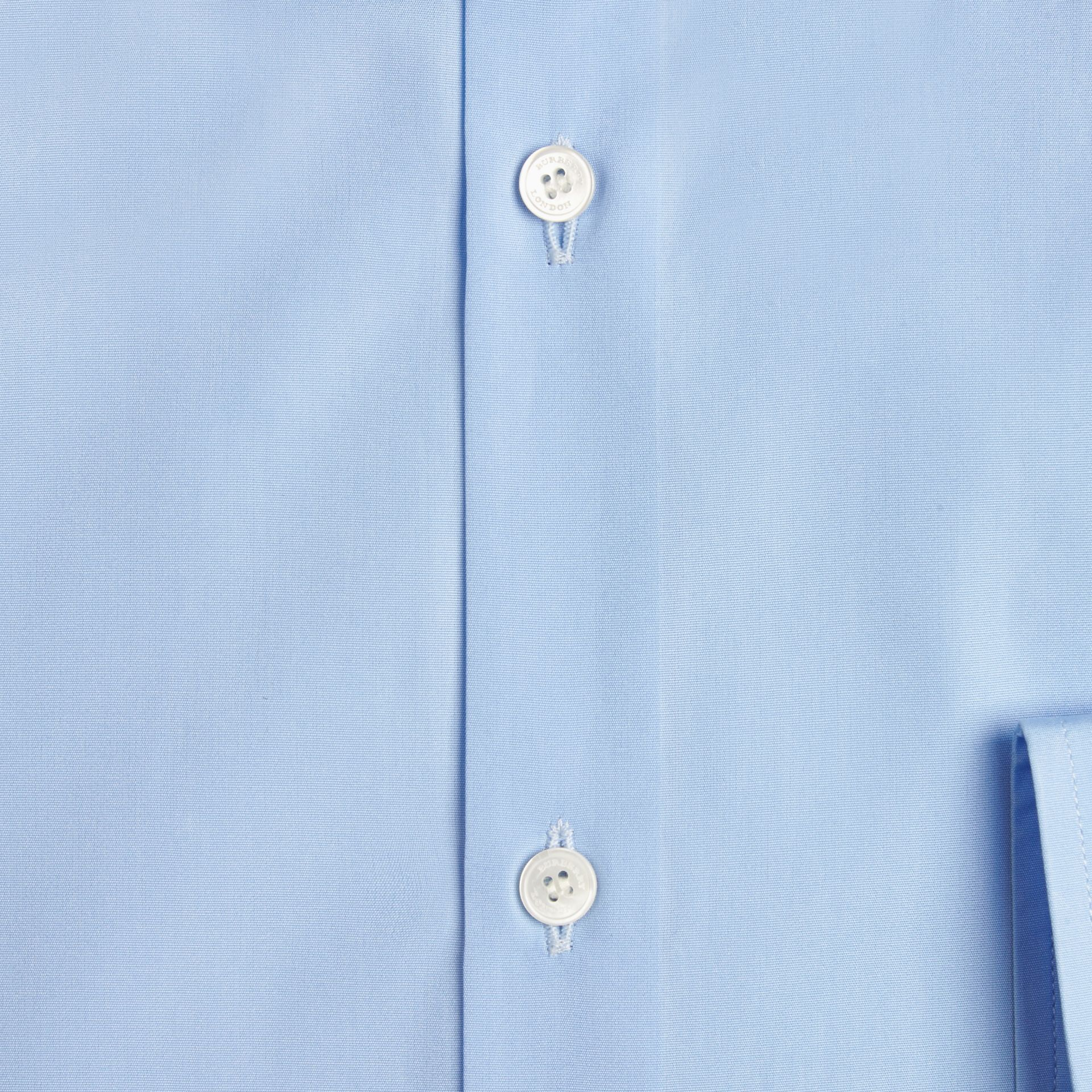 City blue Modern Fit Cotton Poplin Shirt City Blue - gallery image 2