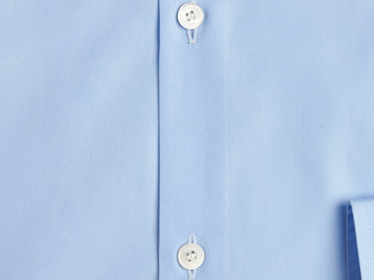Modern Fit Cotton Poplin Shirt in City Blue - Men | Burberry - cell image 1