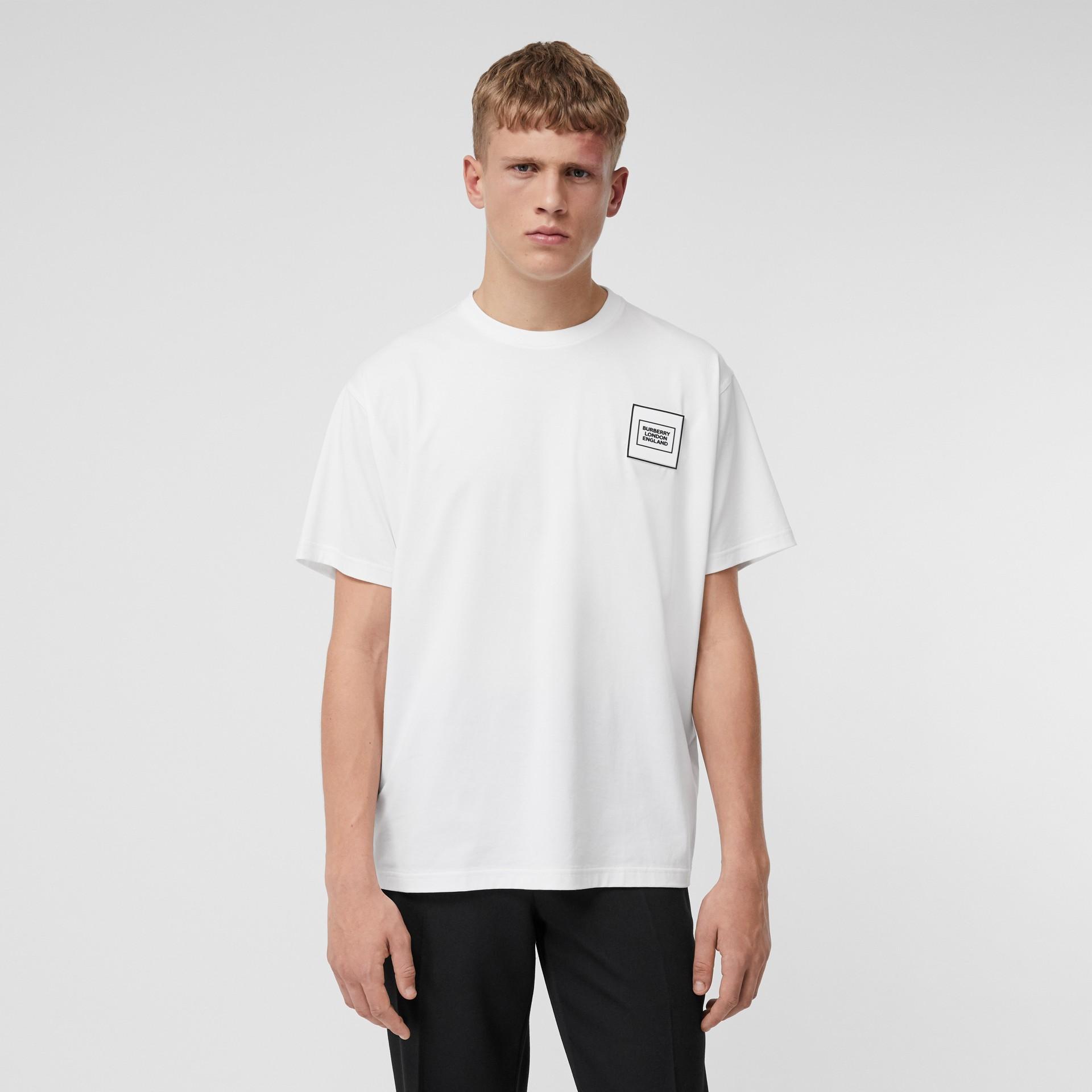 Logo Appliqué Cotton T-shirt in White - Men | Burberry Hong Kong S.A.R - gallery image 0