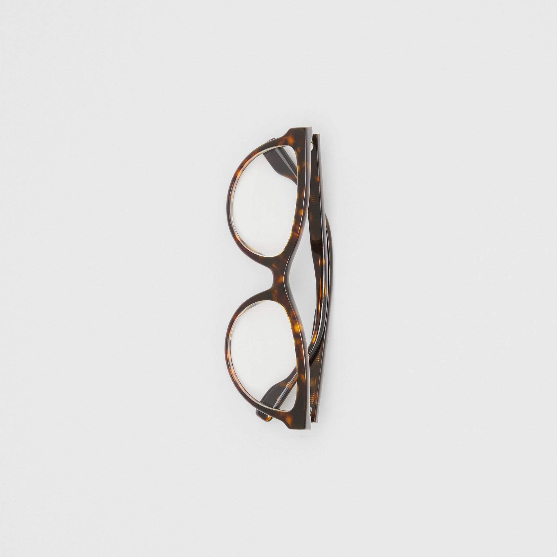 Monogram Motif Cat-eye Optical Frames in Tortoiseshell - Women | Burberry Hong Kong S.A.R - gallery image 2