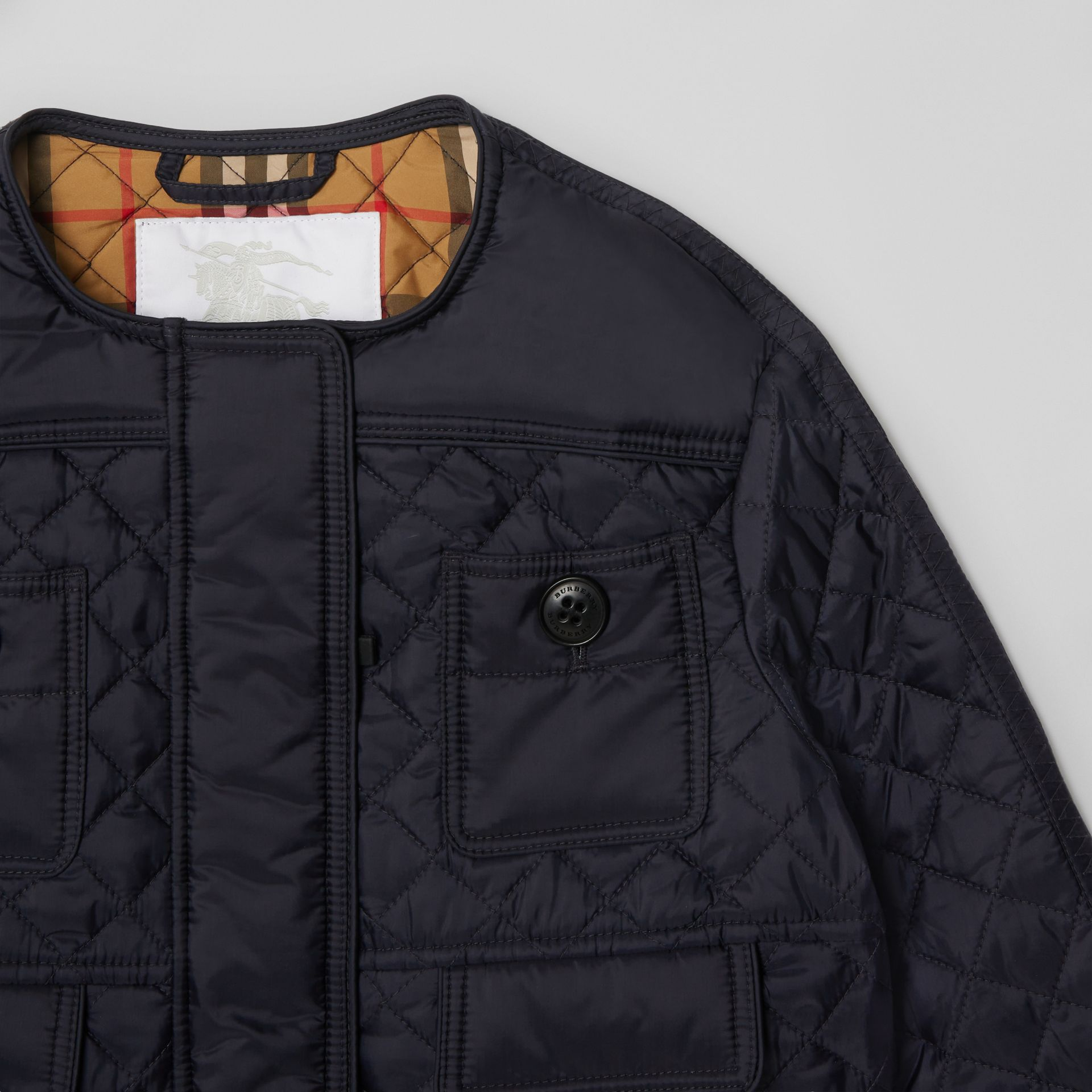 Lightweight Diamond Quilted Jacket in Navy | Burberry - gallery image 5