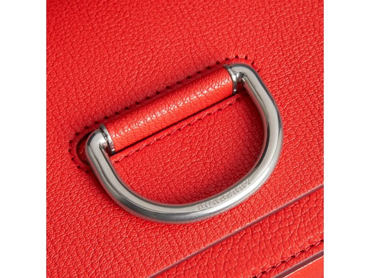 Bolso D-ring pequeño en piel (Rojo Intenso) - Mujer | Burberry - cell image 1