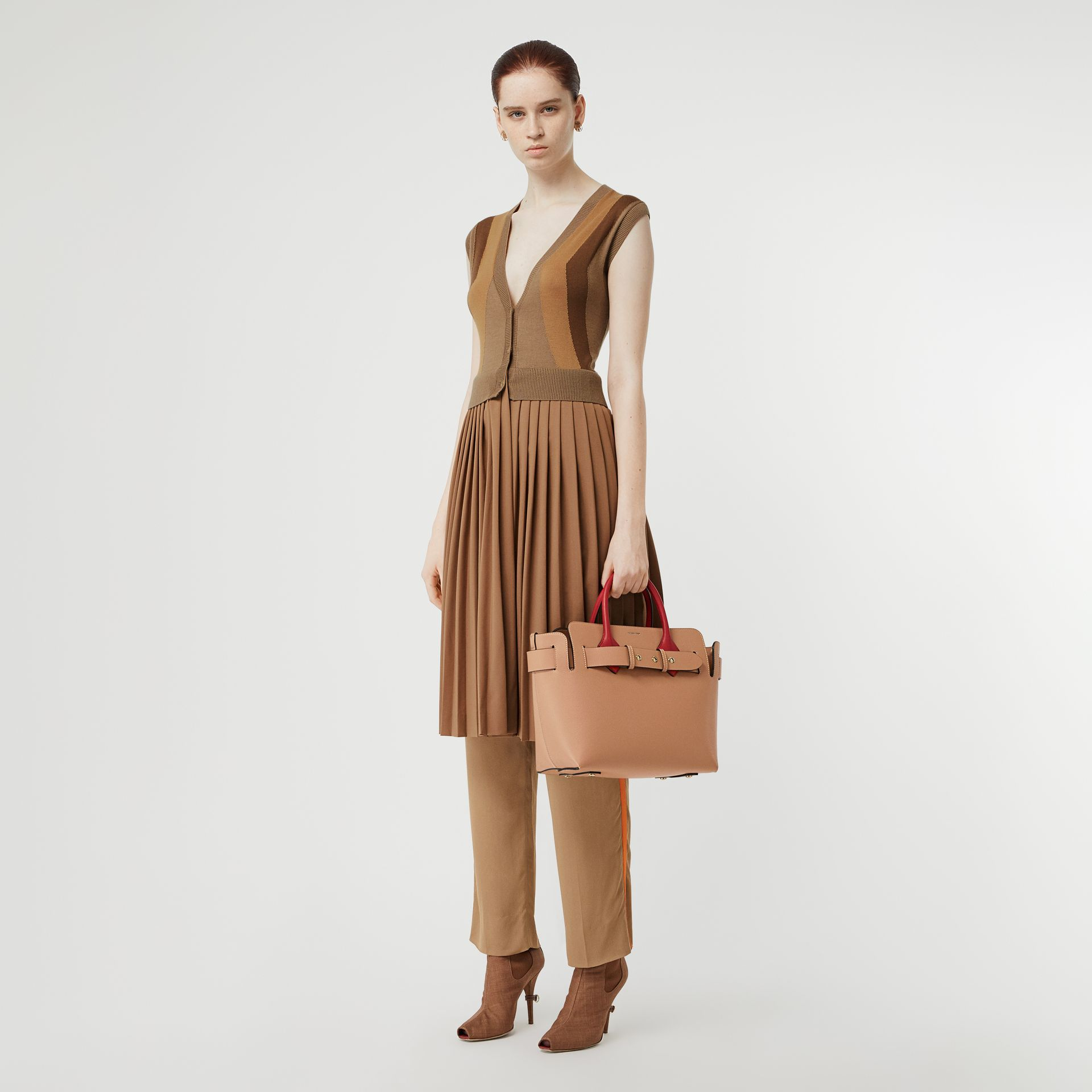 The Small Leather Triple Stud Belt Bag in Light Camel - Women | Burberry United Kingdom - gallery image 4