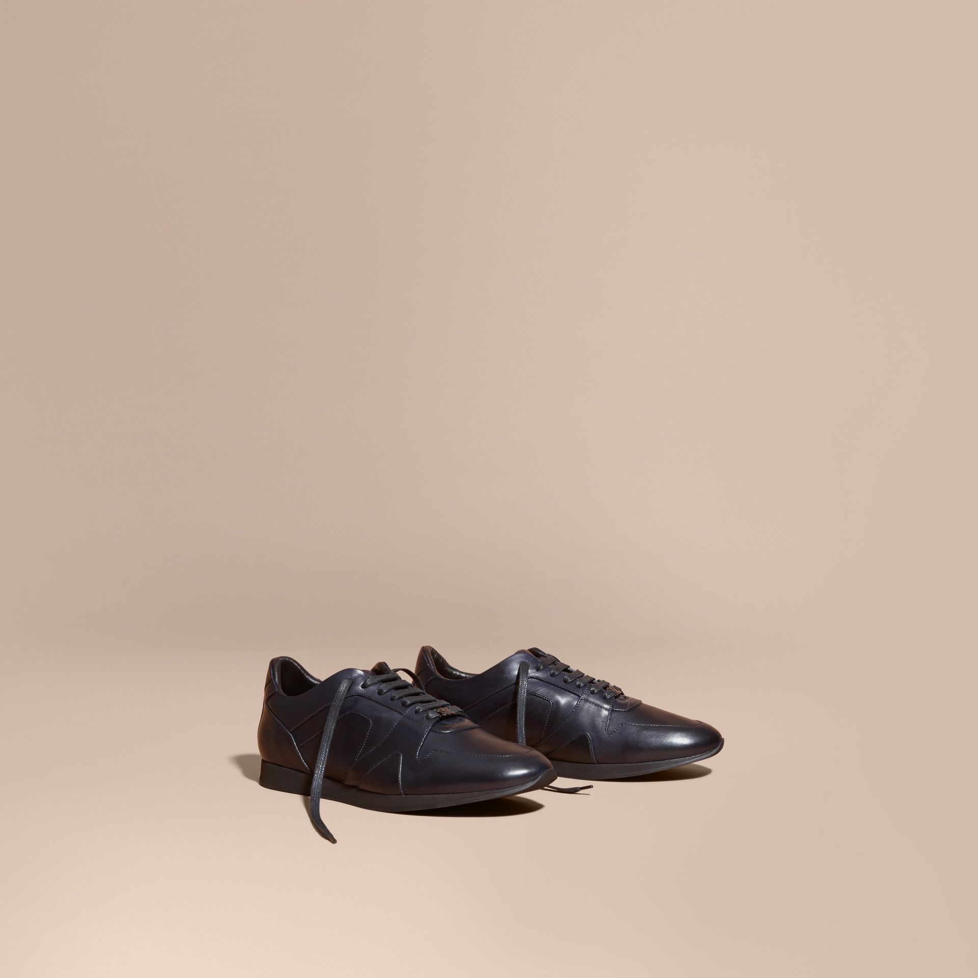 Navy The Field Sneaker in Leather Navy - gallery image 1