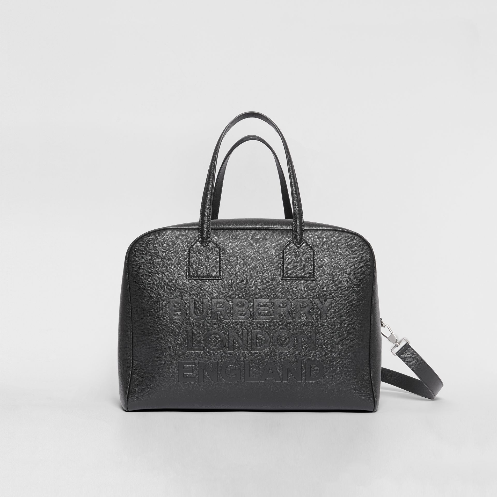 Large Leather Cube Bag in Black | Burberry - gallery image 0