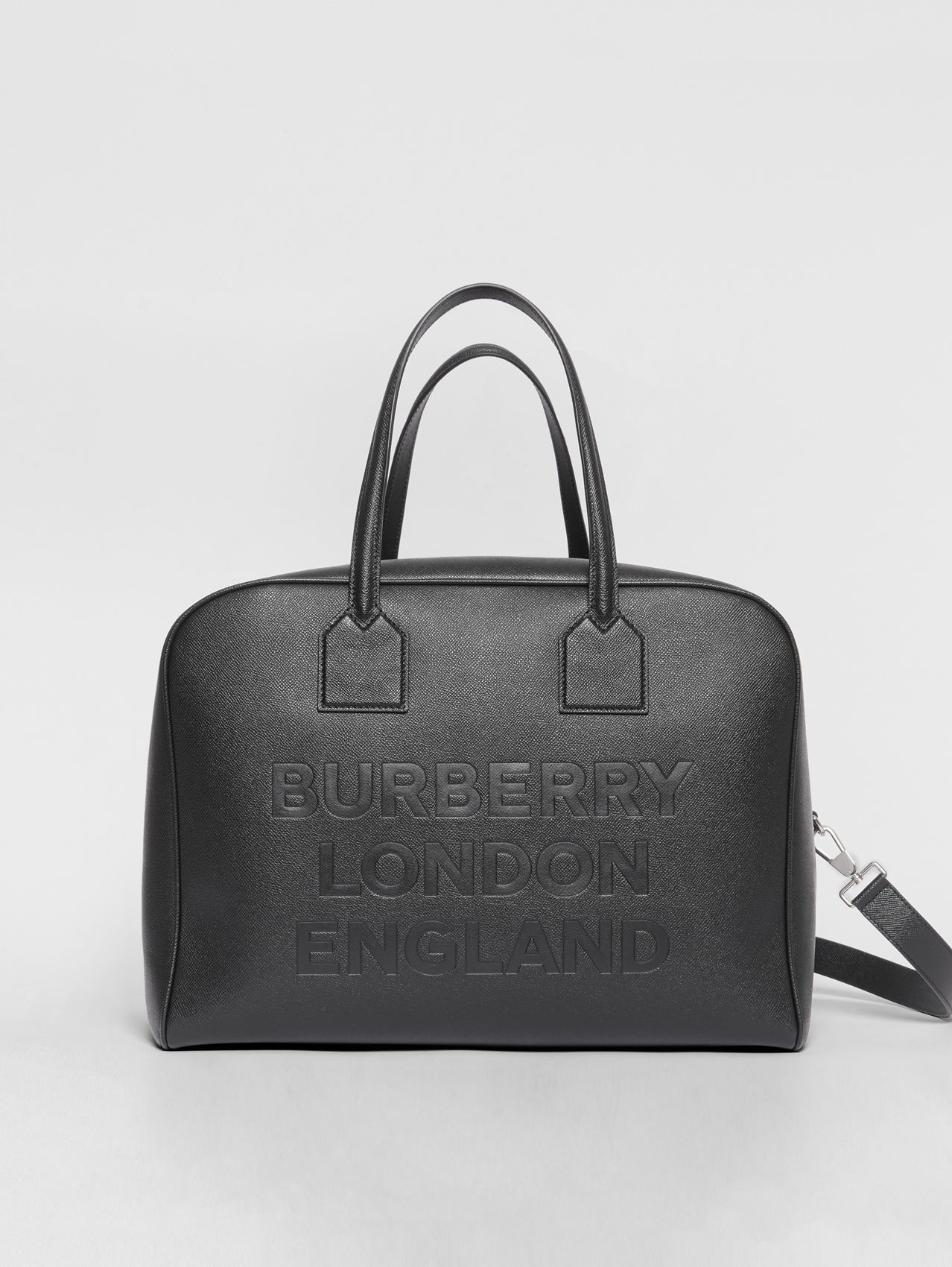 Large Leather Cube Bag in Black