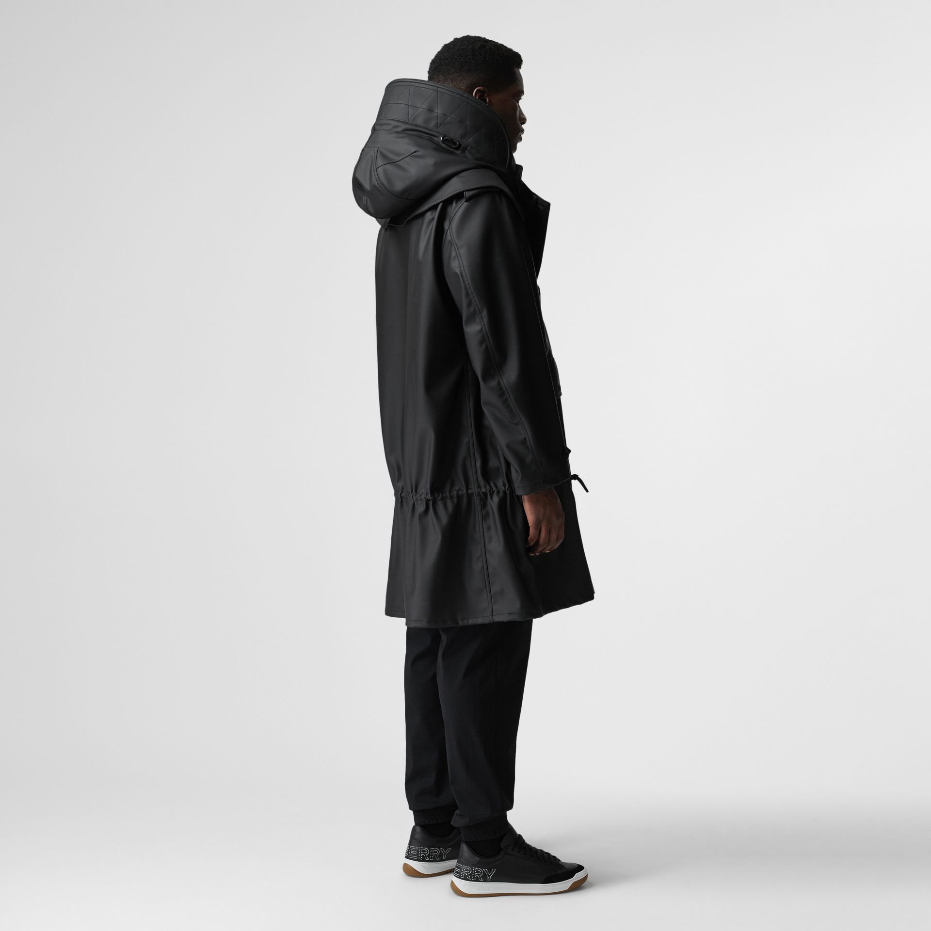 Structured Hood Scuba Parka in Black - Men | Burberry Australia - gallery image 3