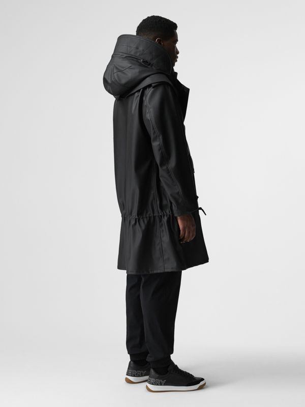 Structured Hood Scuba Parka in Black - Men | Burberry Australia - cell image 3