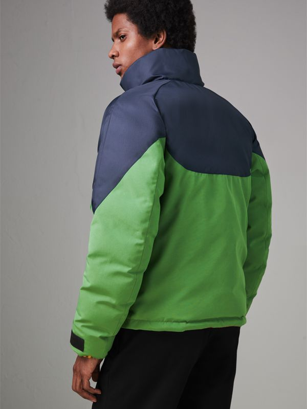 Tri-tone Down-filled Reversible Jacket in Bright Grass Green - Men | Burberry Singapore - cell image 2